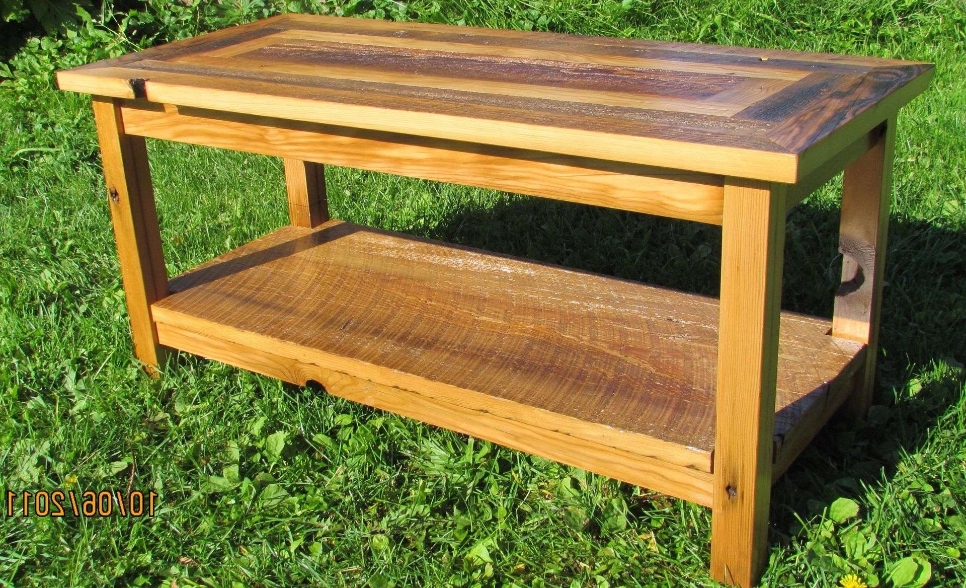 Most Recent Coffee Table With Matching End Tables Within Handmade Reclaimed Barnwood Coffee Table With Matching End Tables (View 13 of 20)