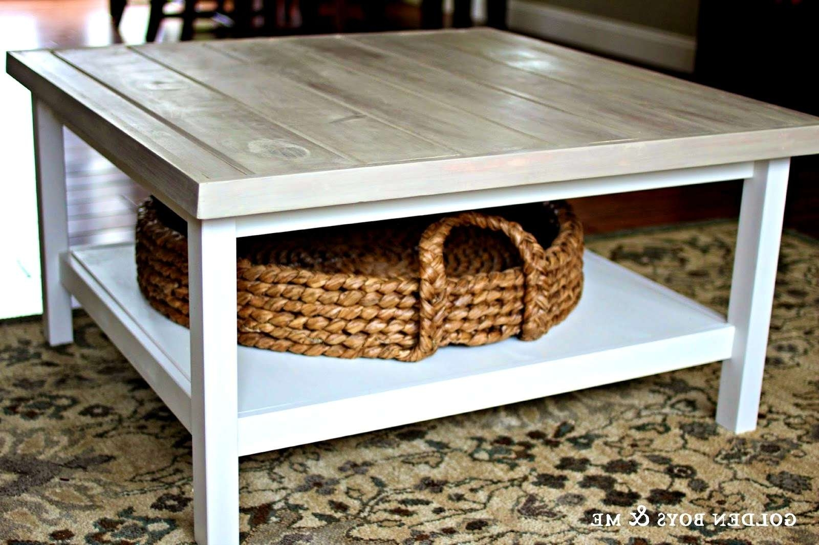 Most Recent Coffee Tables With Basket Storage Underneath For Coffee Table : Under Coffee Table Storage Baskets For Tableunder (View 8 of 20)