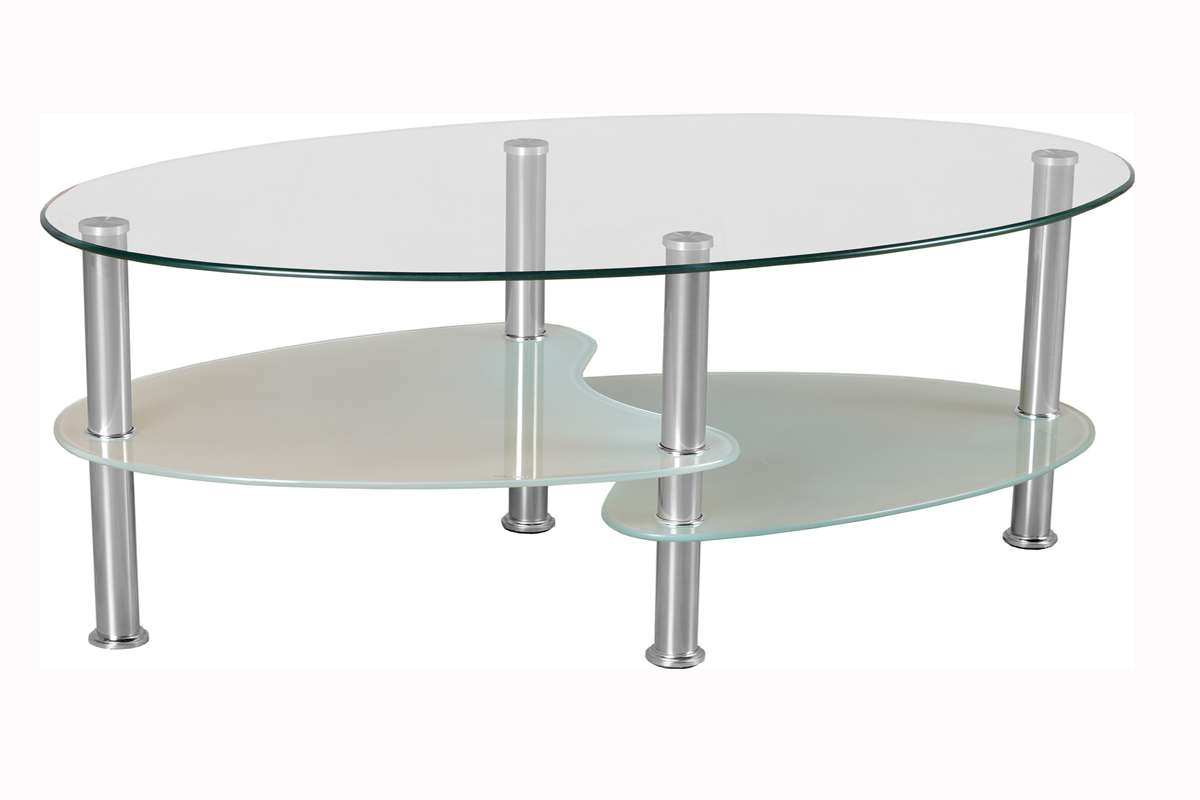 Most Recent Coffee Tables With Oval Shape Pertaining To Oval Glass Top Coffee Table (View 15 of 20)