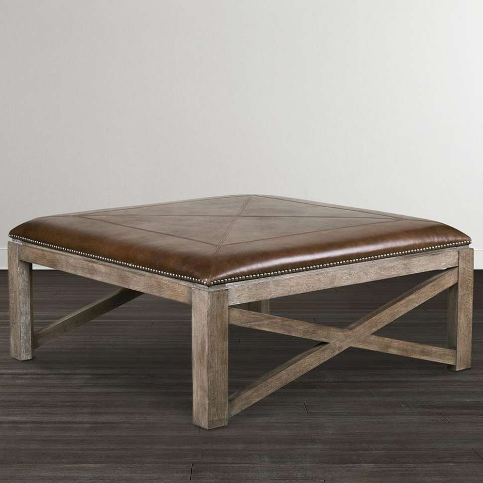 Most Recent Coffee Tables With Shelf Underneath Within Furniture : White Tufted Ottoman Coffee Table Cream Leather (View 11 of 20)