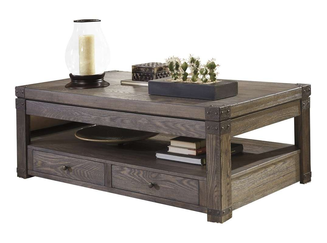 Most Recent Coffee Tables With Shelves Intended For Loon Peak Bryan Coffee Table With Lift Top & Reviews (View 11 of 20)