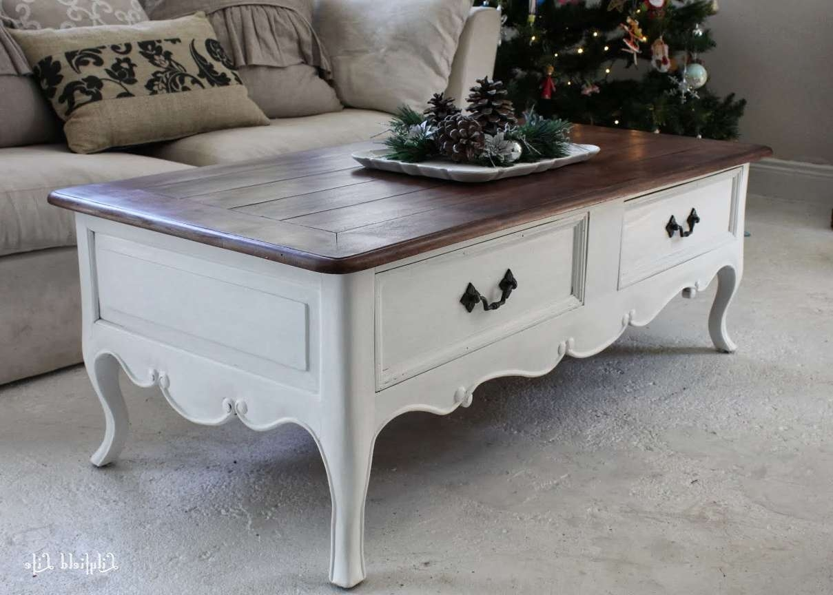 Most Recent Country French Coffee Tables With Regard To Coffee Tables : Large French Coffee Table With Drawer Antiques (View 14 of 20)