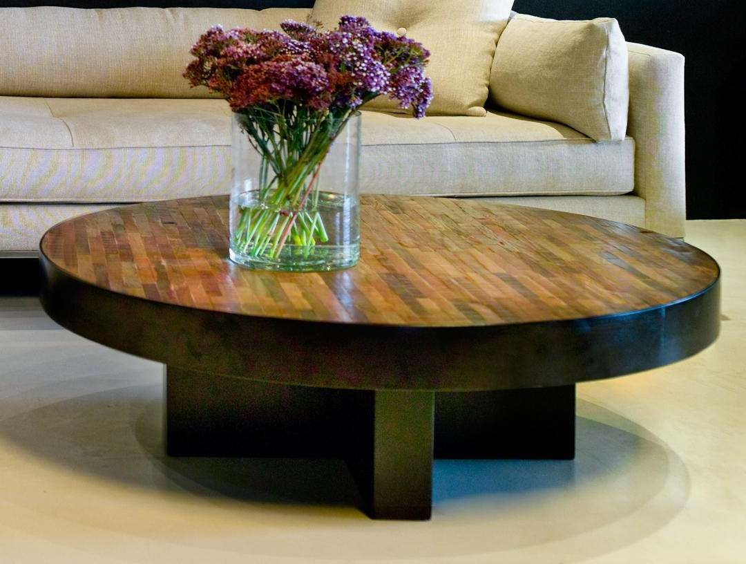 Most Recent Dark Wood Round Coffee Tables For Coffee Table Reclaimed Wood Coffee Tables Bobreuterstl Com (View 16 of 20)