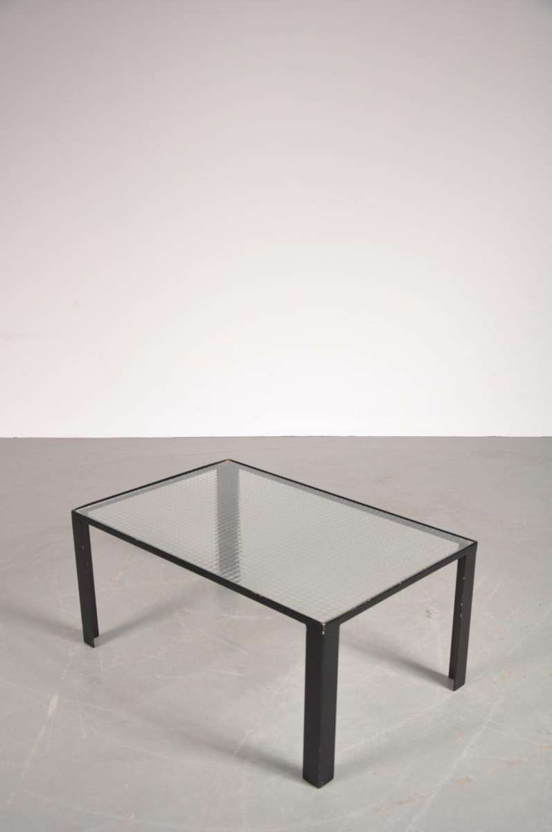 Most Recent Glass And Black Coffee Tables With Regard To Small Black Coffee Table With Safety Glass Top, 1960s For Sale At (View 5 of 20)