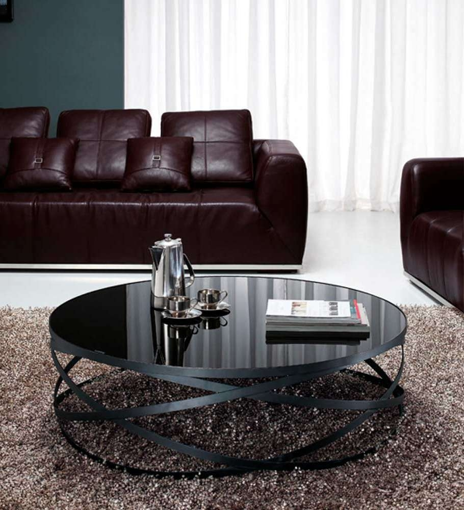 Most Recent Glass And Black Coffee Tables Within Black Glass Coffee Table Vg (View 4 of 20)