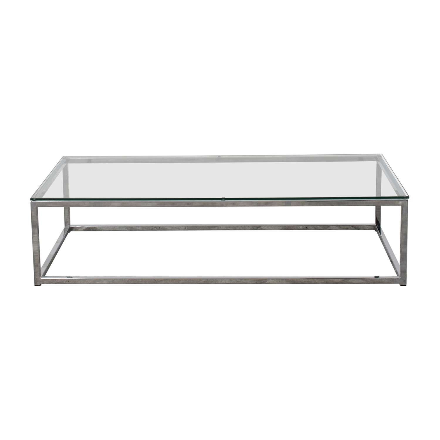 [%Most Recent Glass Chrome Coffee Tables Throughout 45% Off – Cb2 Cb2 Glass And Chrome Coffee Table / Tables|45% Off – Cb2 Cb2 Glass And Chrome Coffee Table / Tables With Newest Glass Chrome Coffee Tables%] (View 1 of 20)