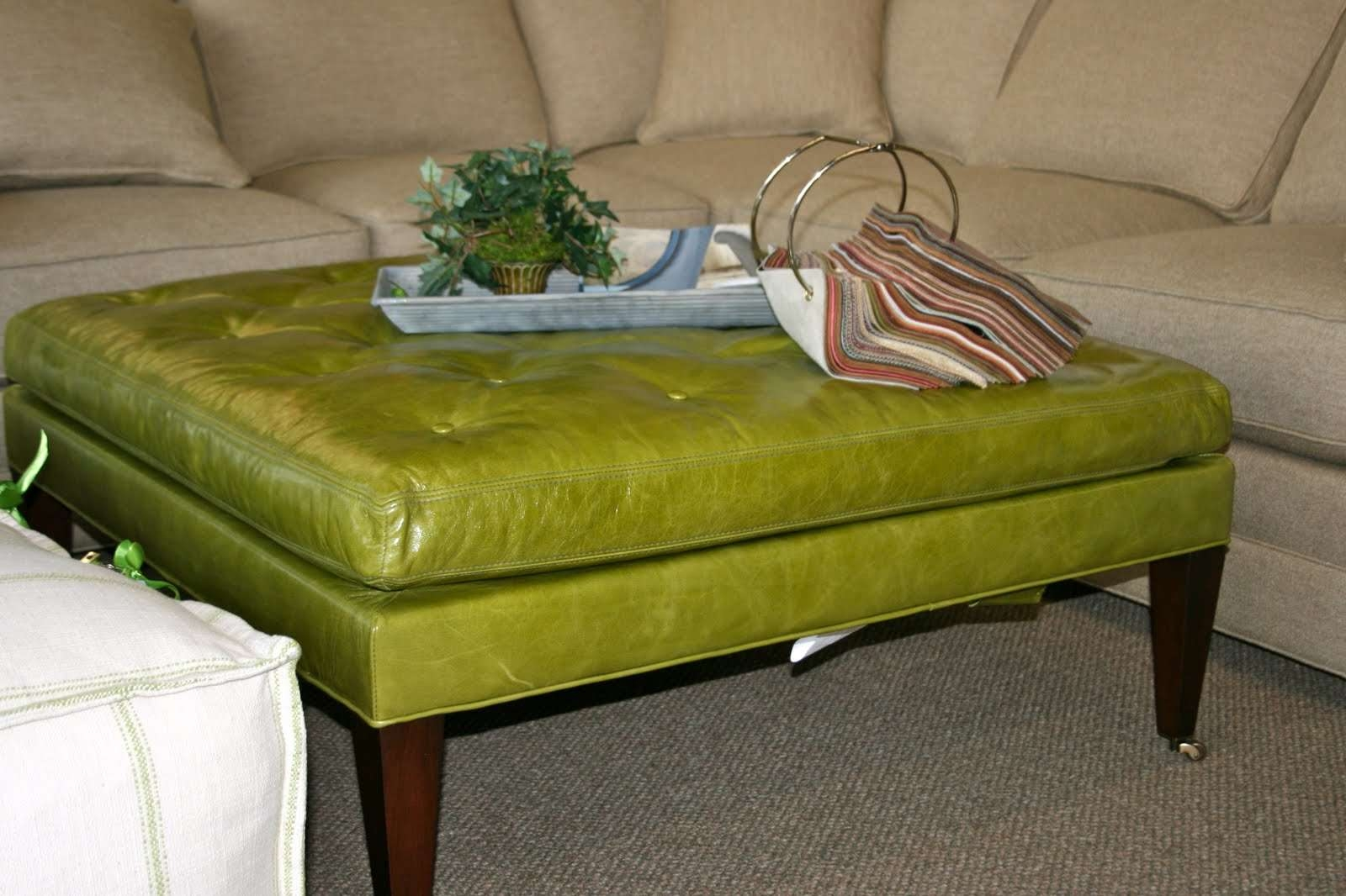 Most Recent Green Ottoman Coffee Tables Within Chartreuse Home Furnishings: April  (View 13 of 20)