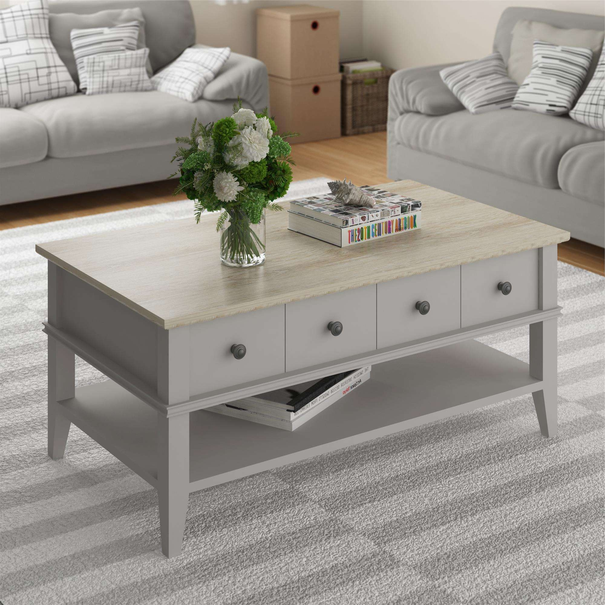 Most Recent Grey Wood Coffee Tables In Ameriwood Furniture (View 15 of 20)