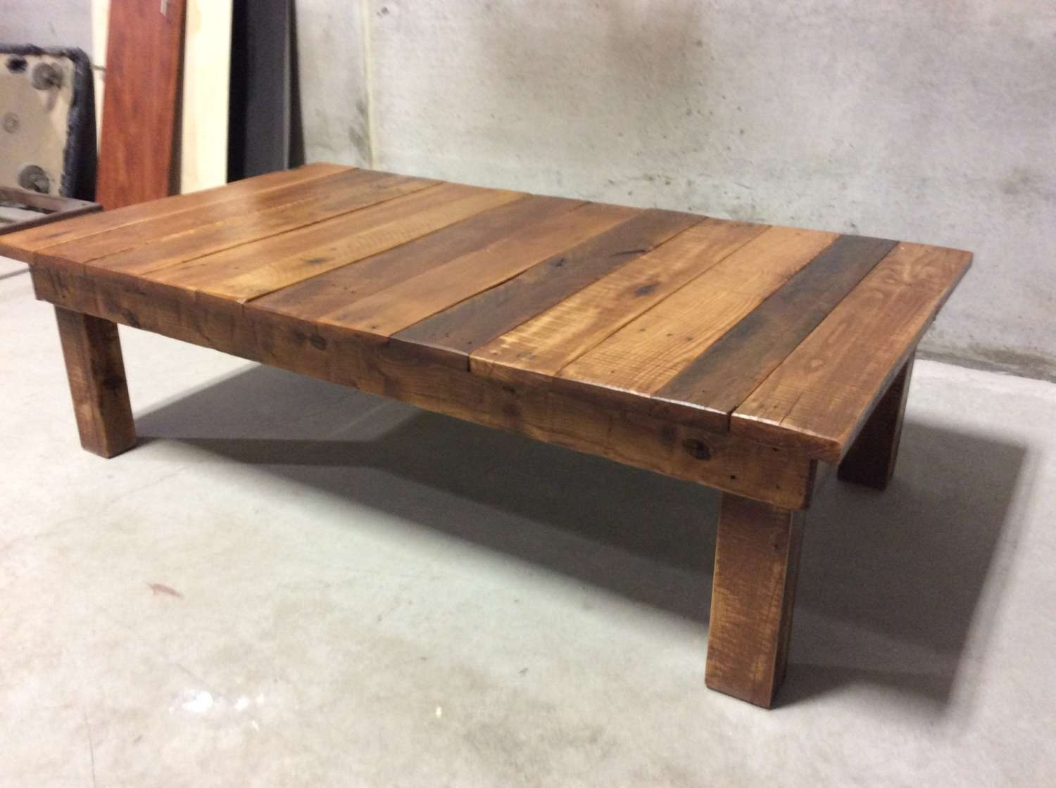 Most Recent Large Wood Coffee Tables With Regard To Reclaimed Wood Coffee Table Large — All Furniture : Unique (View 14 of 20)