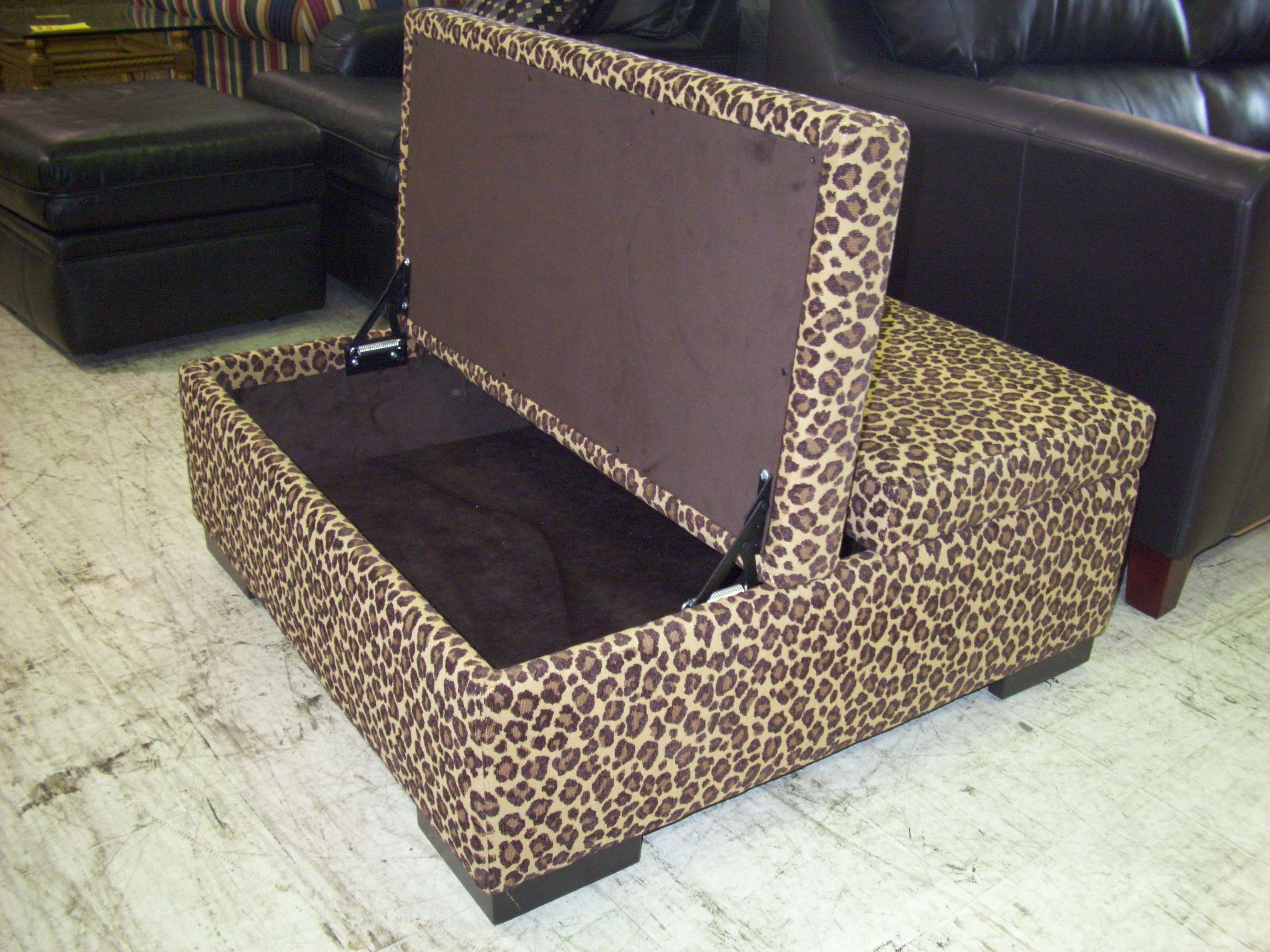 Most Recent Leopard Ottoman Coffee Tables Regarding Leopard Print Ottoman Coffee Table • Coffee Table Design (View 3 of 20)