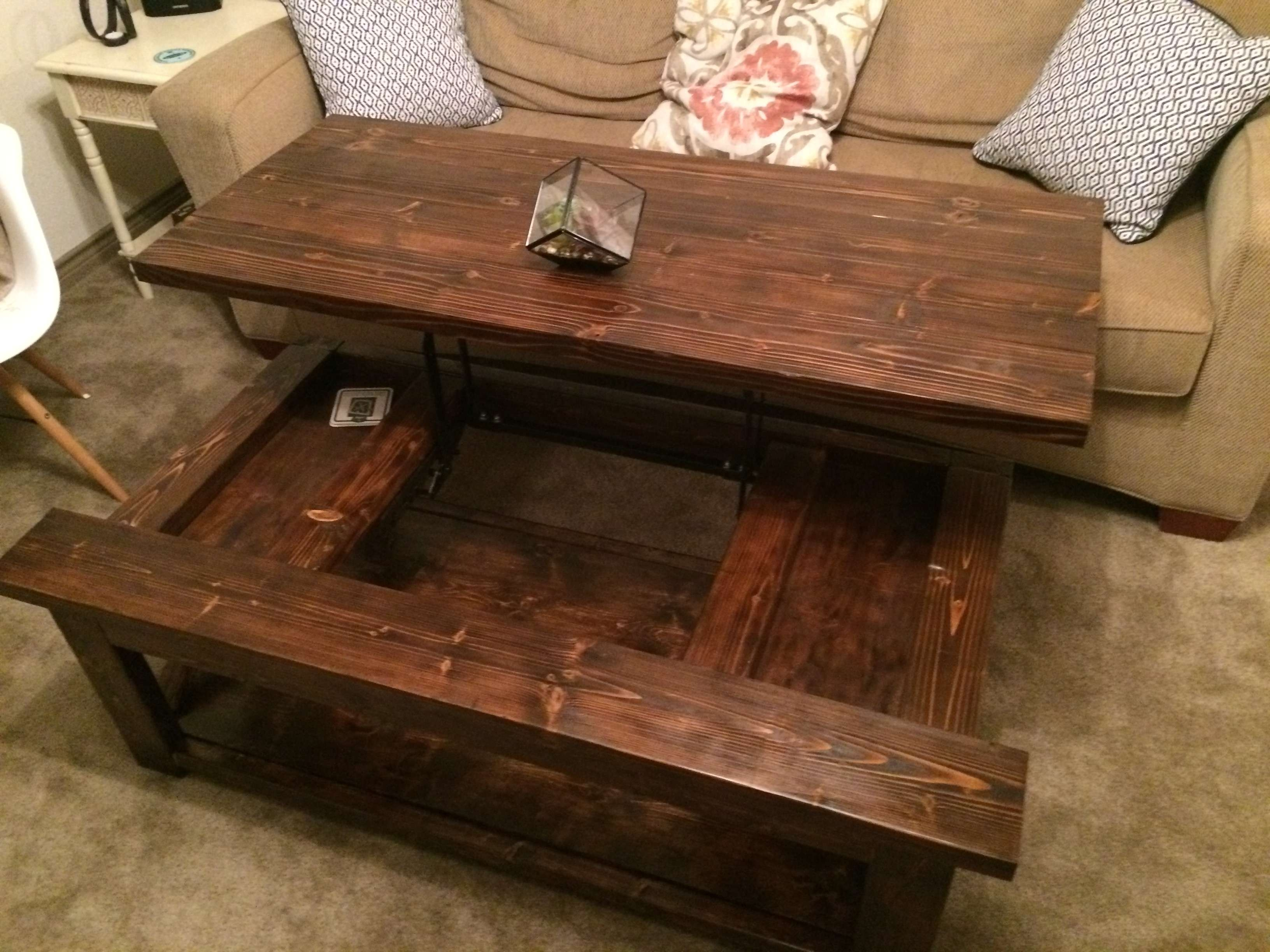 Most Recent Lift Top Coffee Tables Pertaining To Ana White Diy Lift Top Coffee Table Rustic X Style Diy Projects (View 16 of 20)