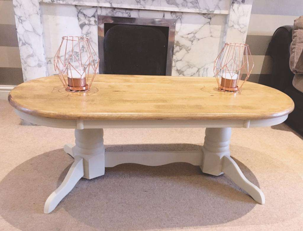 Most Recent Oak And Cream Coffee Tables Throughout Summer Oak And Cream Coffee Table (View 2 of 20)