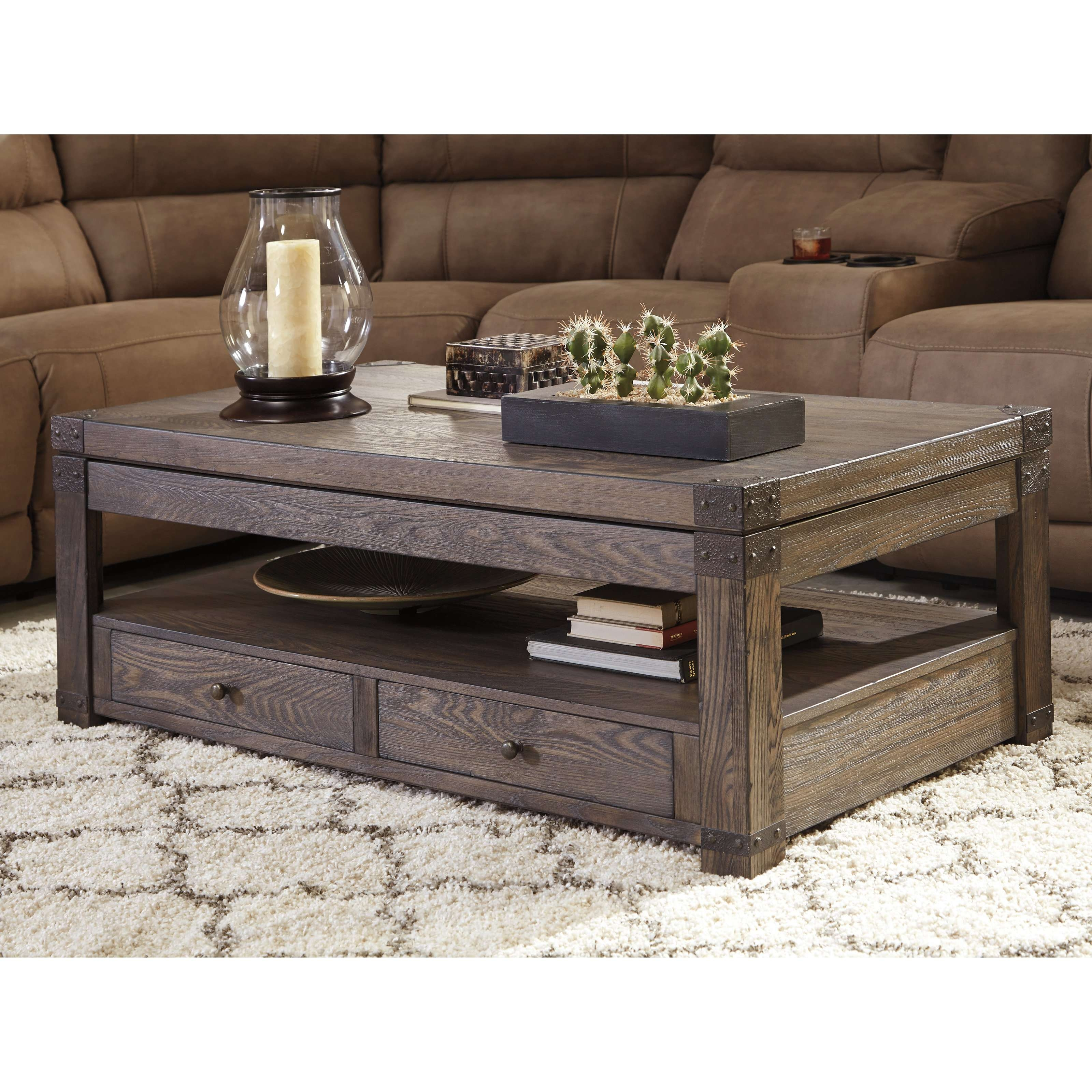 Most Recent Raisable Coffee Tables Pertaining To Sauder Cannery Bridge Lift Top Coffee Table (View 17 of 20)