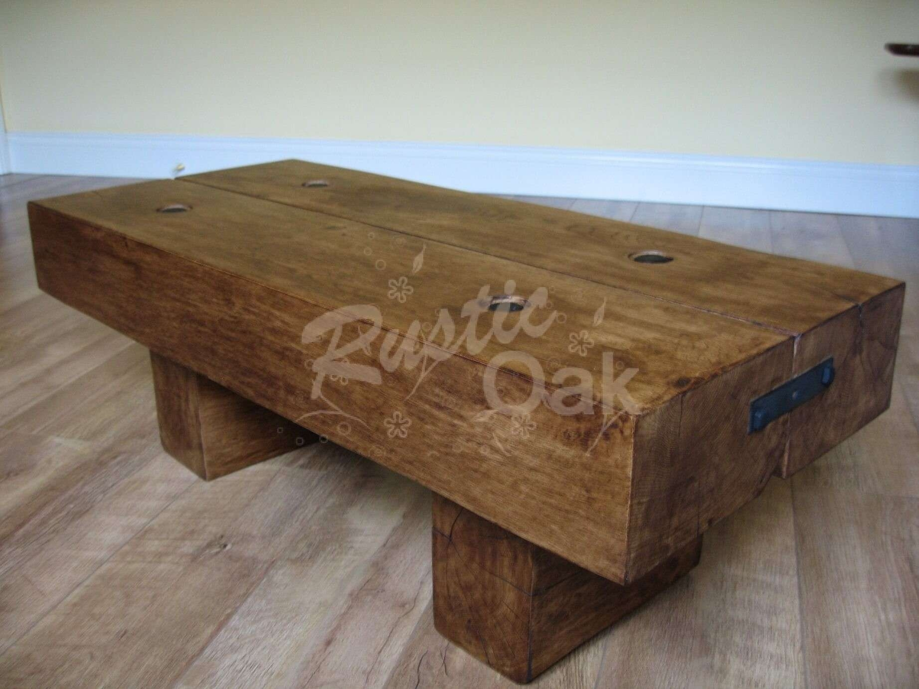 Most Recent Solid Oak Beam Coffee Table Inside Coffee Tables : Contemporary Oak Coffee Table Argos Coffee Table (View 9 of 20)