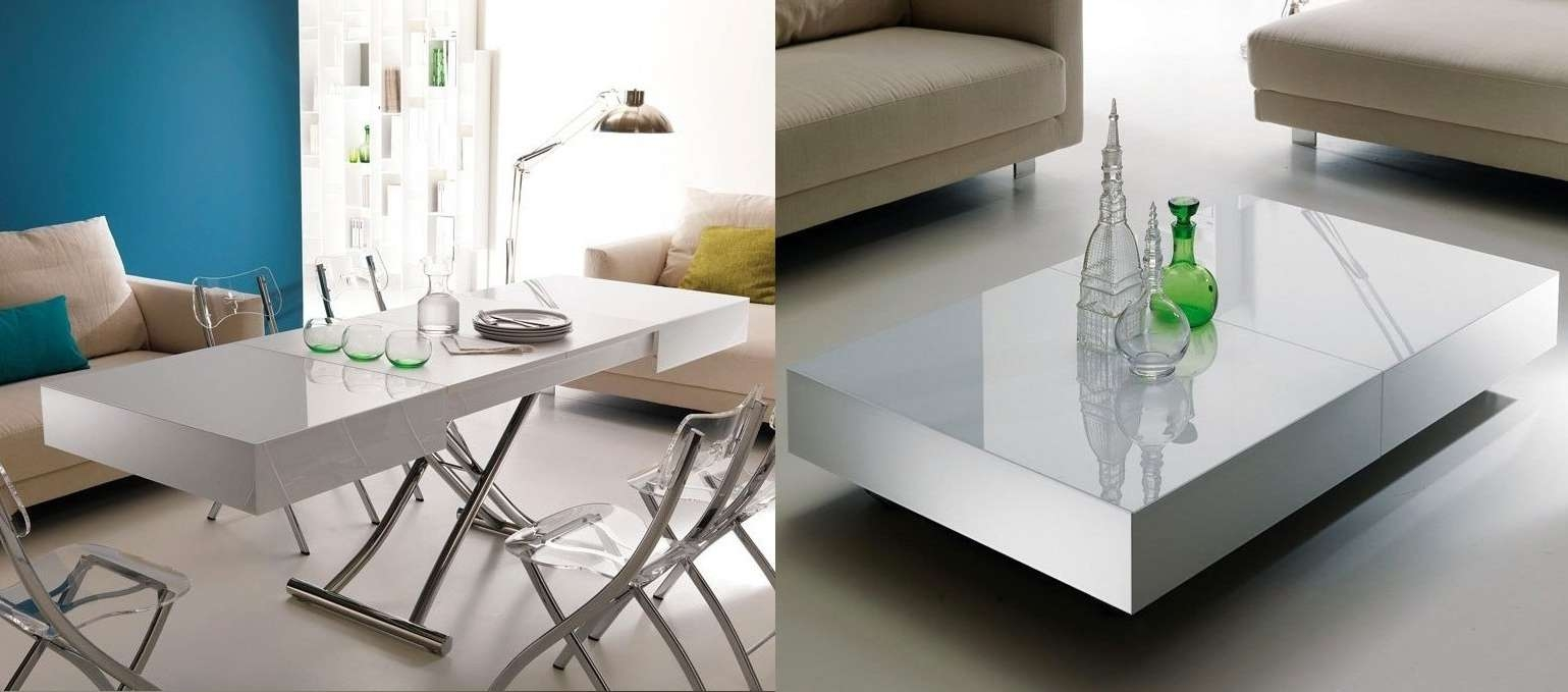 Most Recent Space Coffee Tables Regarding Coffee Table : Space Saving Coffee Table Flexible Dining Table (View 12 of 20)