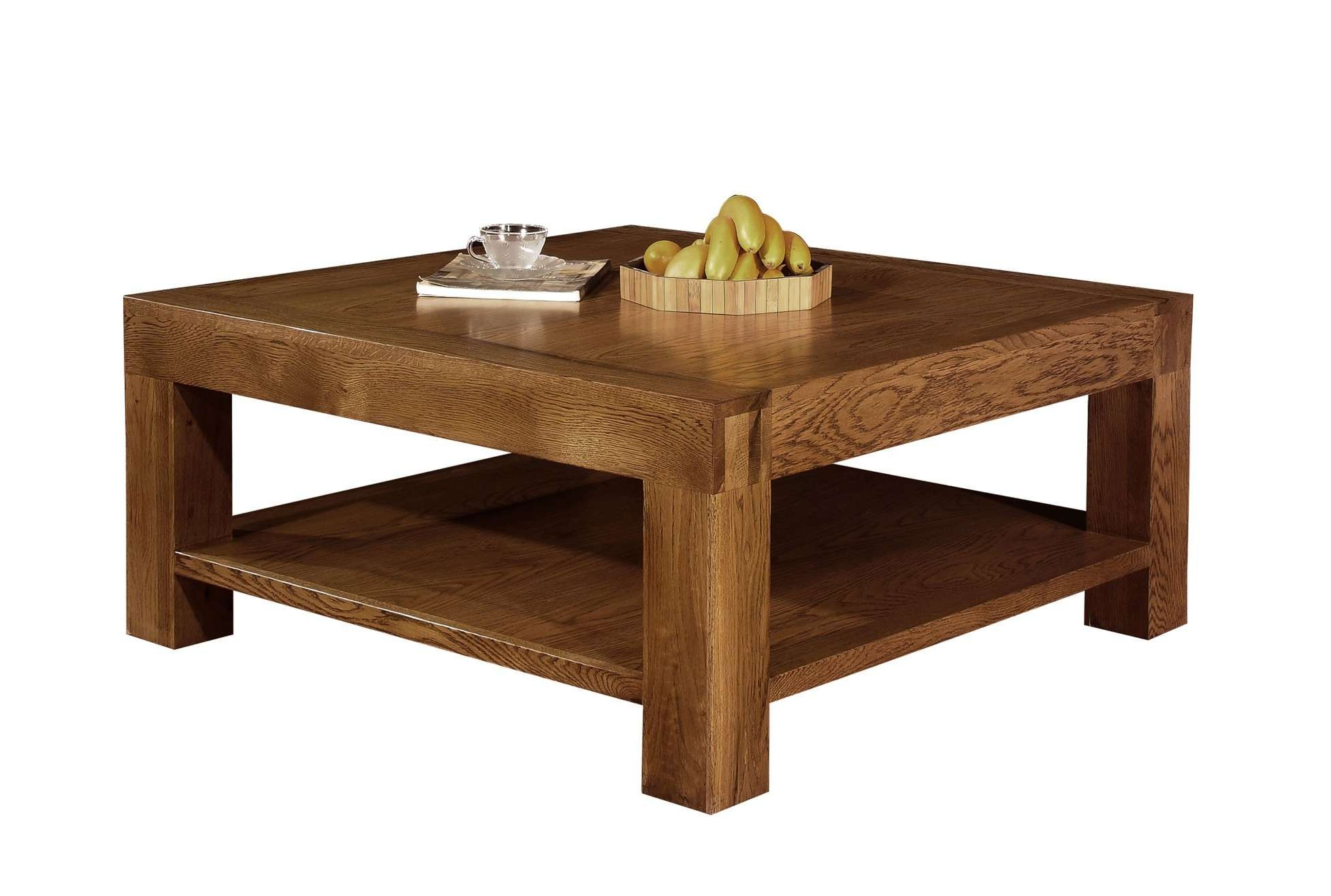 Most Recent Square Wooden Coffee Table Pertaining To Coffee Tables : Square Wood Coffee Table Black Coffee Table' Cheap (View 16 of 20)