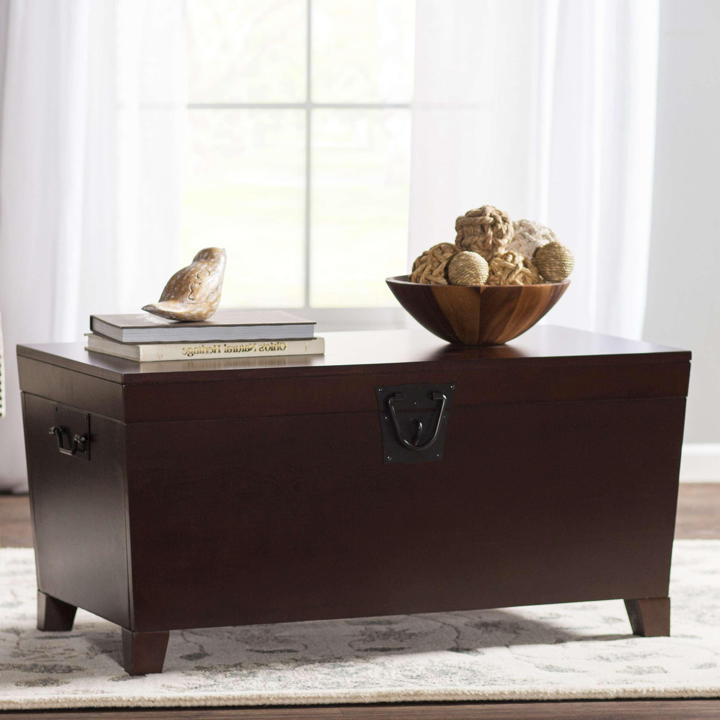 Most Recent Trunk Coffee Tables With Regard To Charlton Home Bischoptree Storage Trunk Coffee Table & Reviews (View 15 of 20)