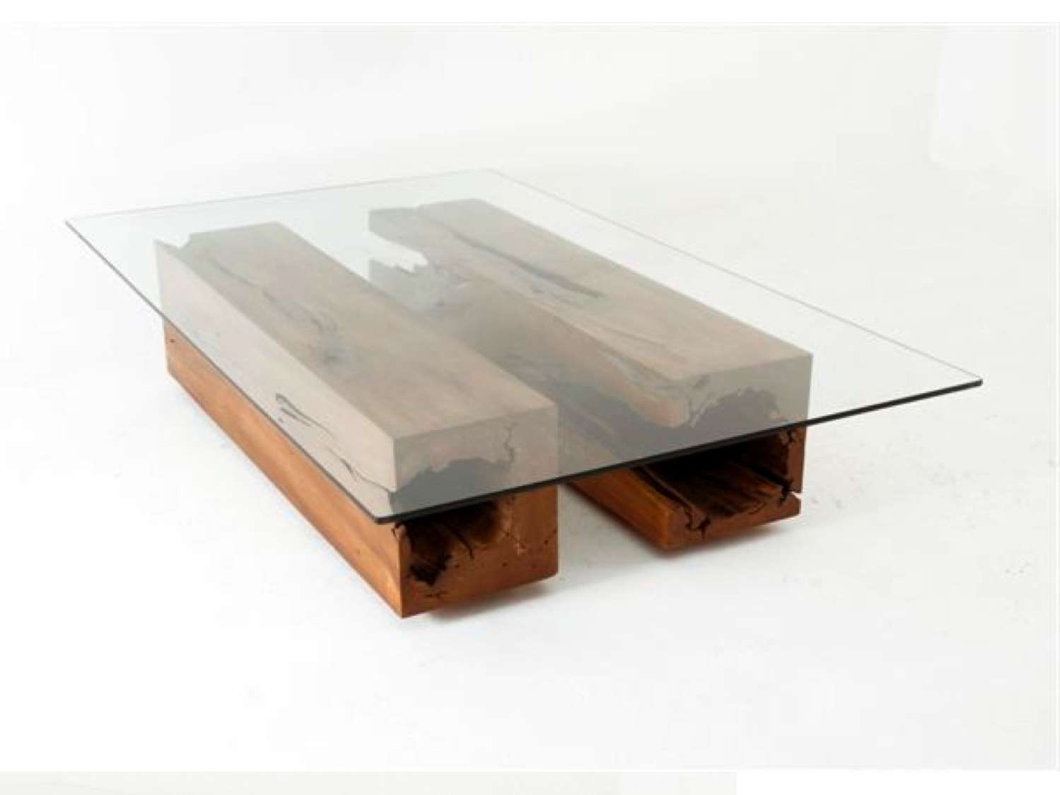 Most Recent Unique Glass Coffee Tables For Furniture: Simple Rectangular Glass Unique Coffee Tables With (View 6 of 20)