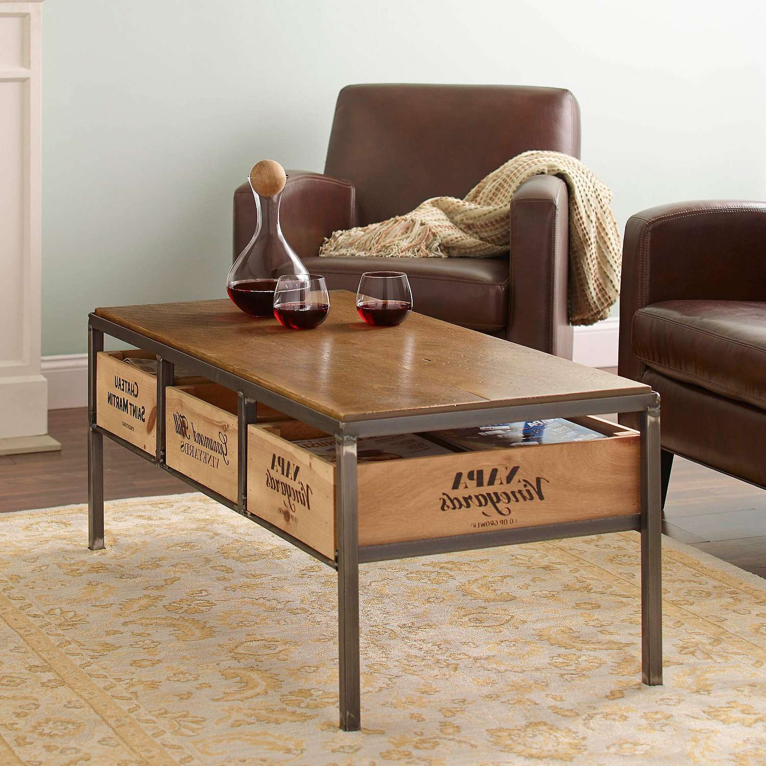 Most Recent White Retro Coffee Tables With Vino Vintage Coffee Table – Wine Enthusiast (View 9 of 20)