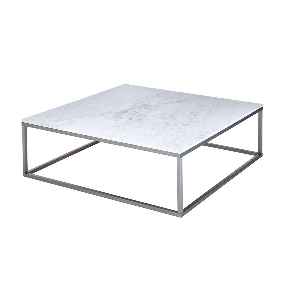Most Recent White Square Coffee Table Inside Marble Square Coffee Table White – Dwell (View 4 of 20)