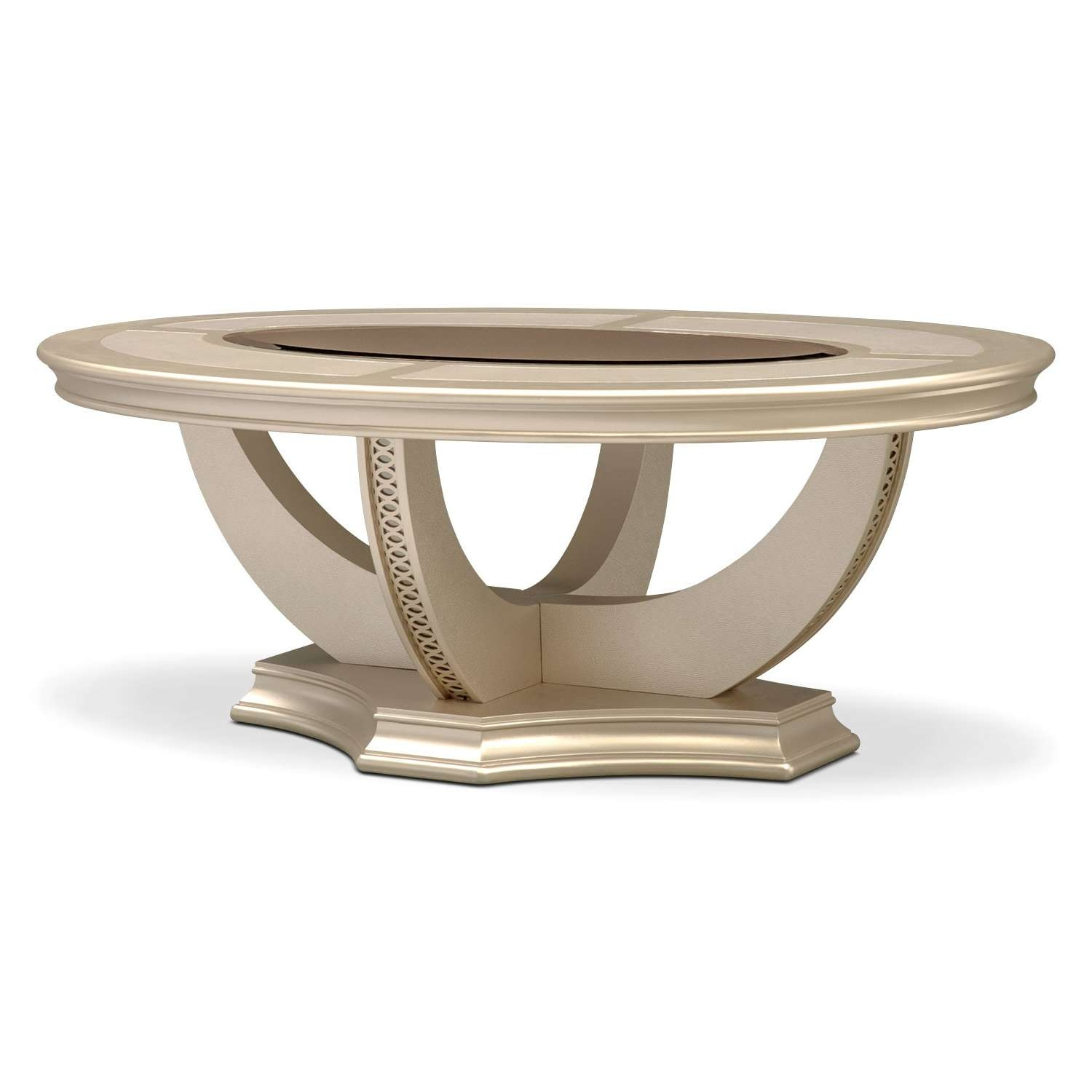 Most Recently Released Beige Coffee Tables Regarding Allegro Cocktail Table – Platinum (View 13 of 20)