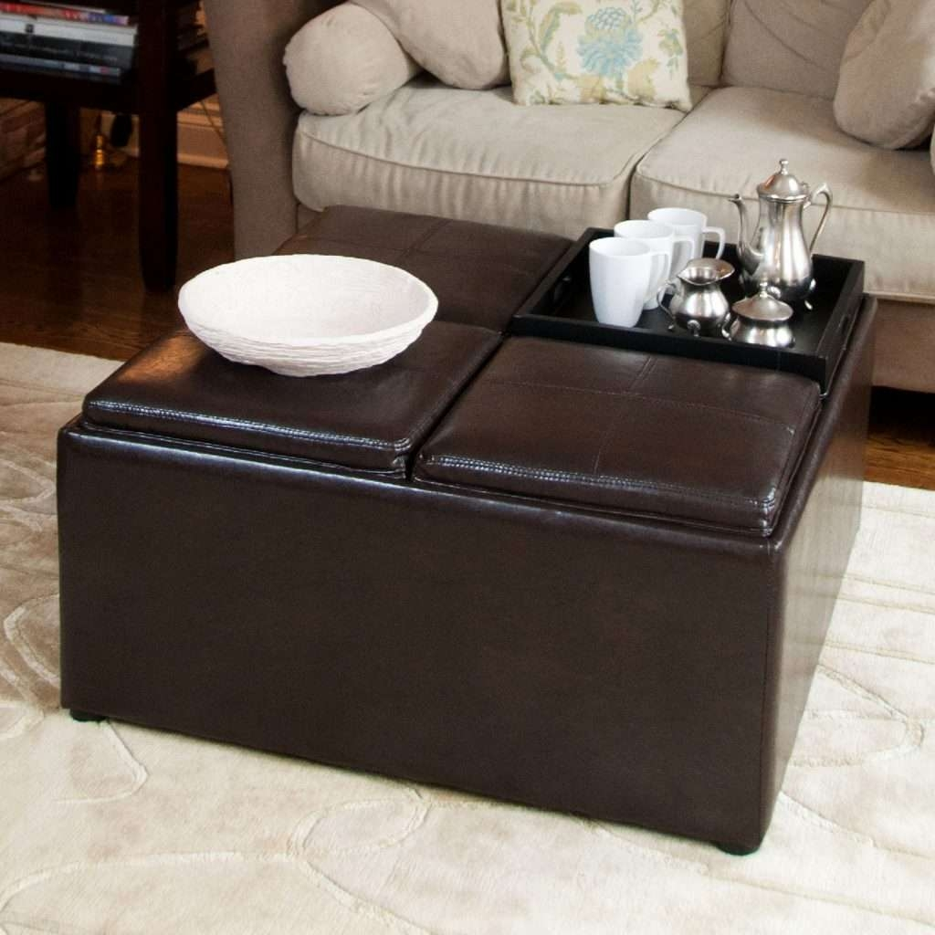 Most Recently Released Brown Leather Ottoman Coffee Tables With 55 New Brown Leather Ottoman Coffee Table – Home Furniture Ideas (View 16 of 20)