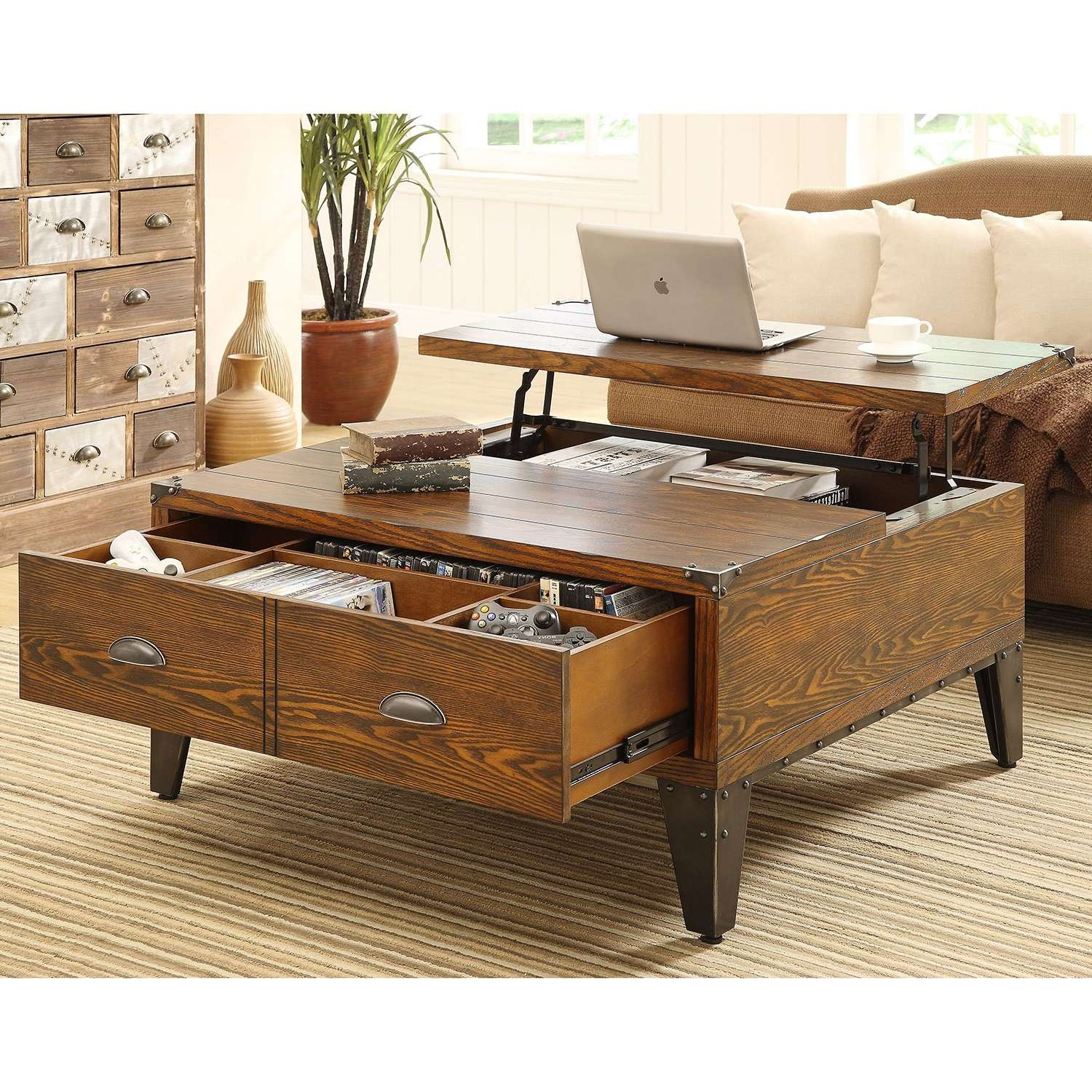 Most Recently Released Cheap Lift Top Coffee Tables Regarding Coffee Tables : Simple Table Light Oak Lift Top Coffee Table (View 20 of 20)