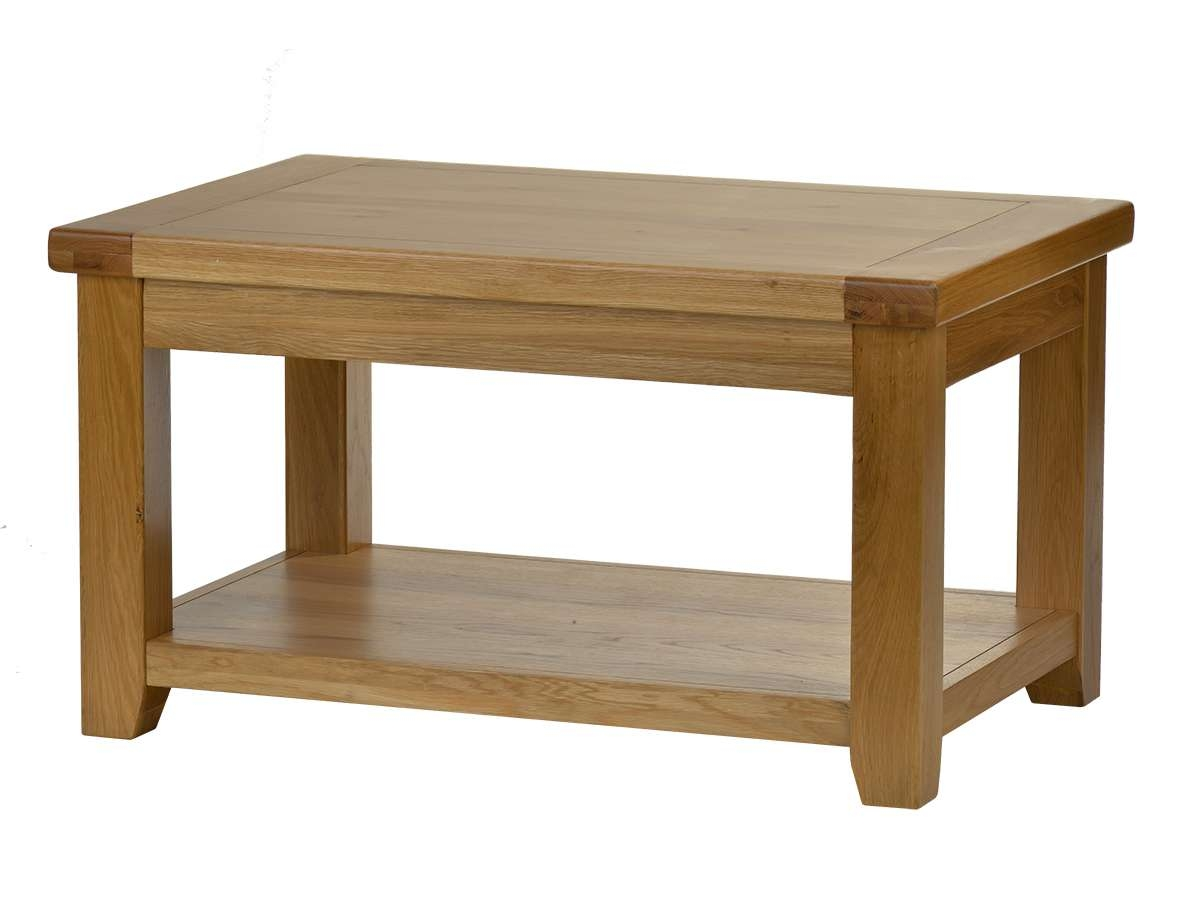 Most Recently Released Chunky Oak Coffee Tables For Latest Natural Chunky Oak Coffee Table With Small Table – Surripui (View 11 of 20)