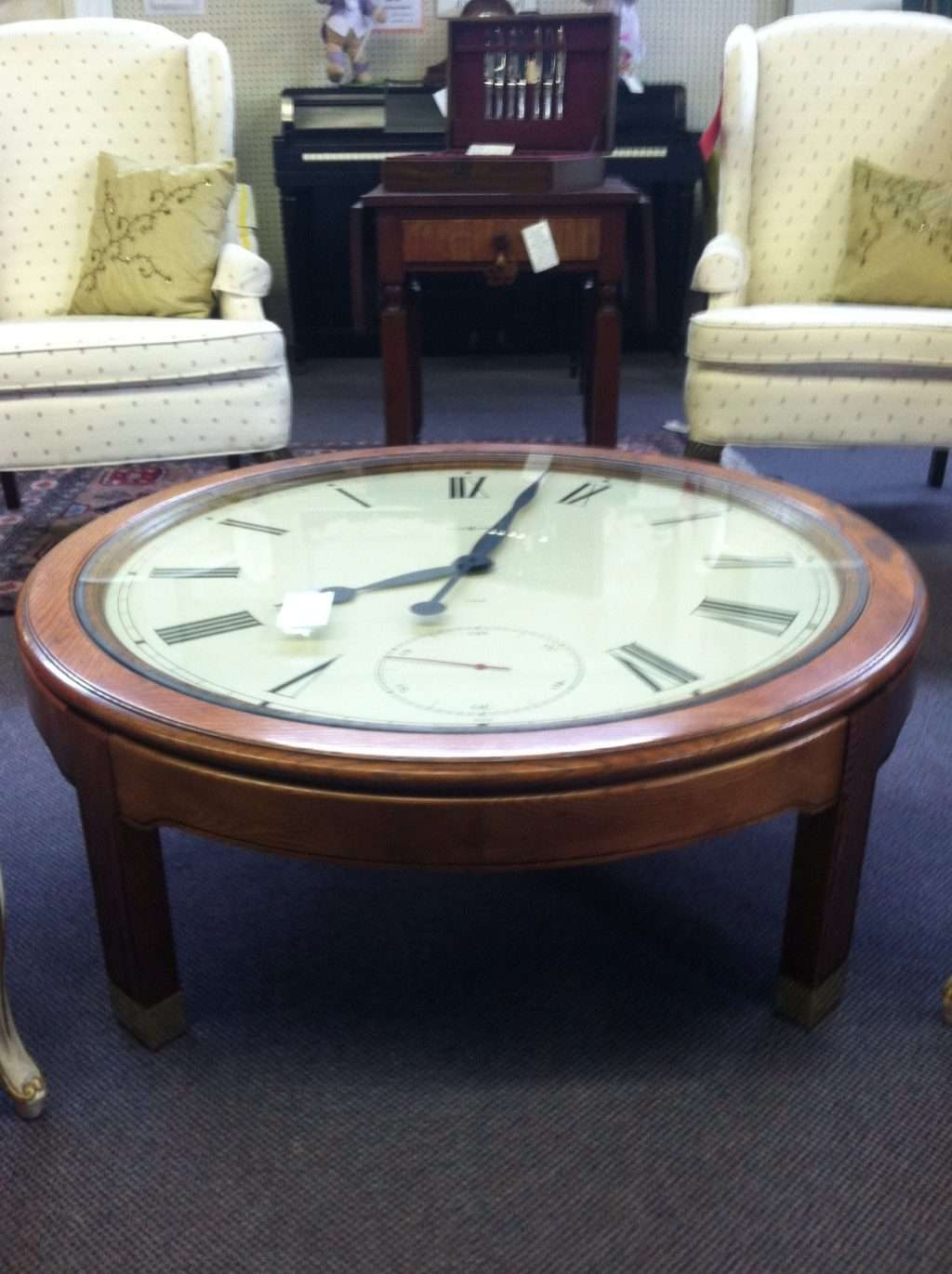 Most Recently Released Clock Coffee Tables Round Shaped In Home ~ Clock Coffee Table For Sale Round With Oval Ridgeway (View 12 of 20)