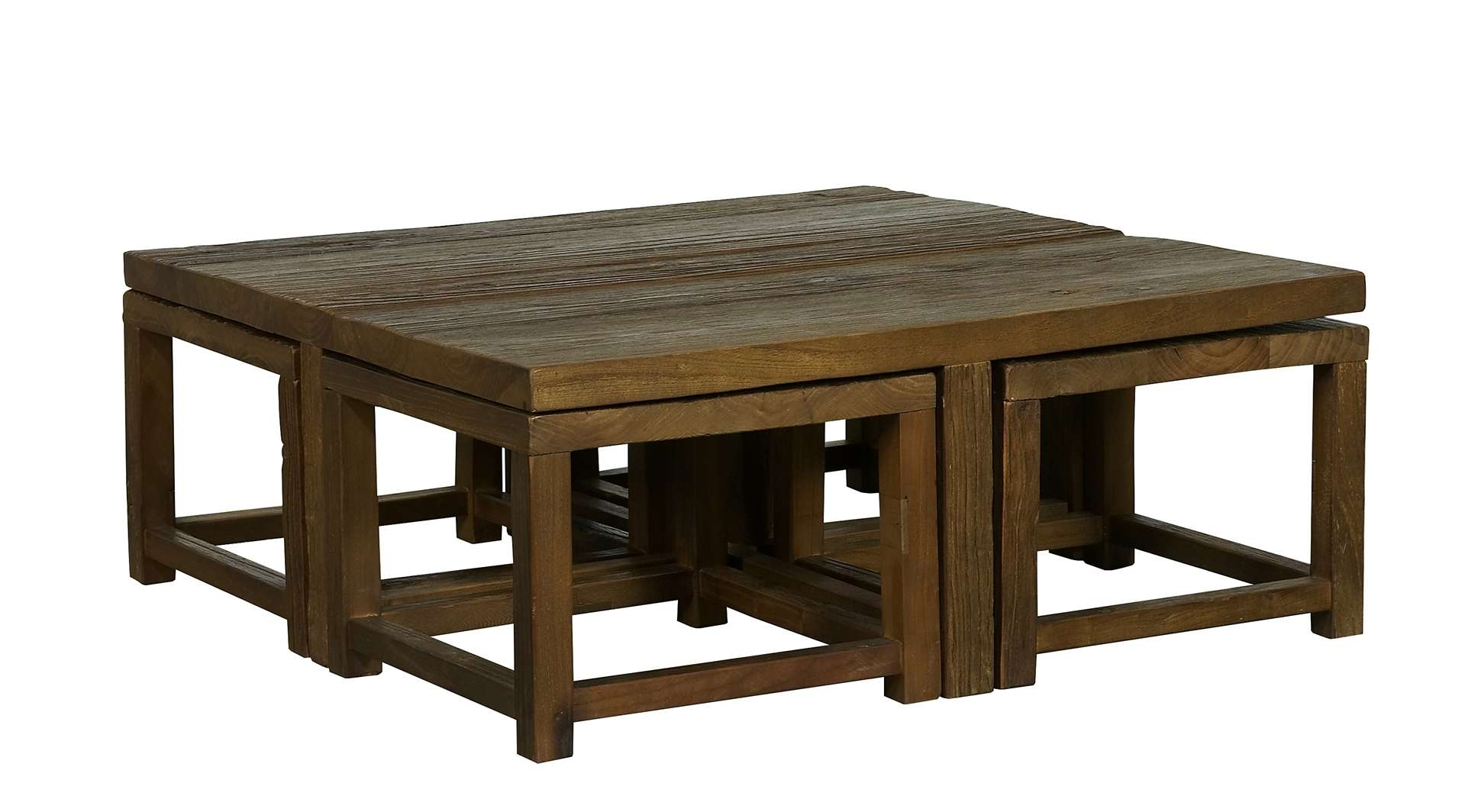 Most Recently Released Coffee Tables With Nesting Stools Pertaining To Coffee Tables : Round Coffee Table Stools Coffee Table With Nested (View 8 of 20)