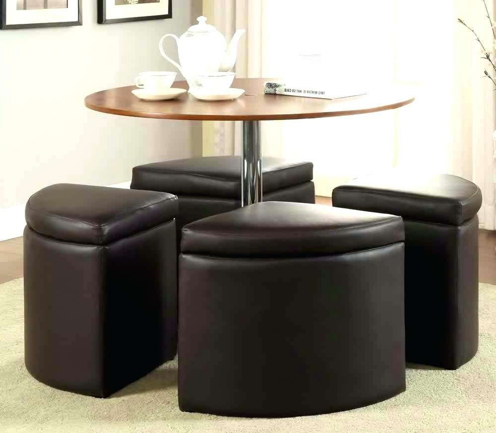 Most Recently Released Coffee Tables With Nesting Stools Pertaining To Coffee Tables : Square Coffee Table With Stools Underneath Round (View 11 of 20)
