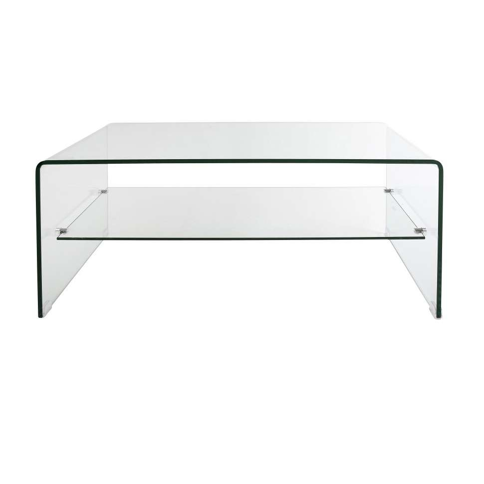 Most Recently Released Glass Coffee Tables With Shelf In Decorations : Unique Glass Table Modern With Strata Glass Coffee (View 14 of 20)