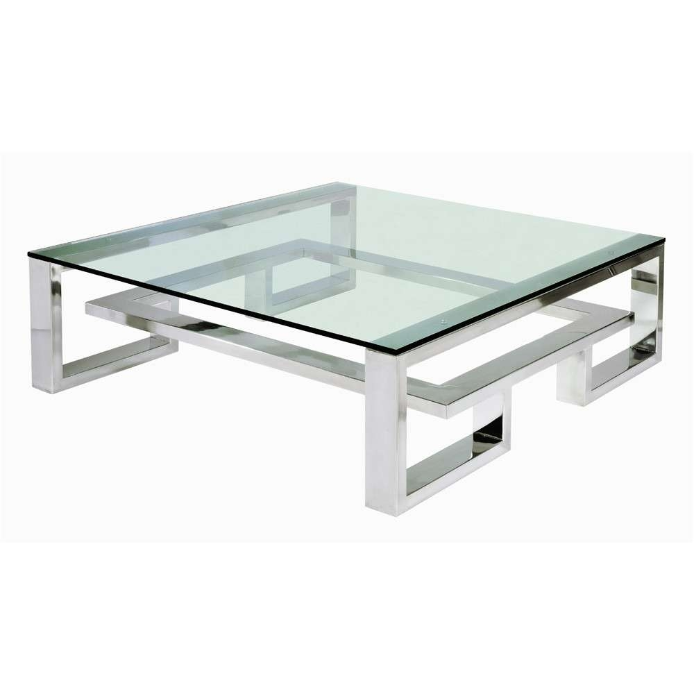Most Recently Released Glass Steel Coffee Tables Inside Coffee Tables Decor : Stainless Steel Coffee Table Storage (View 11 of 20)