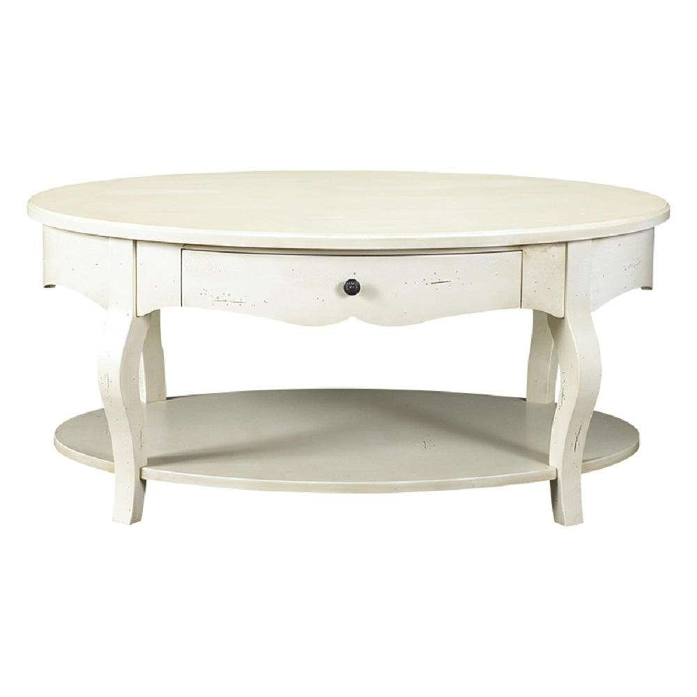 Most Recently Released Heritage Coffee Tables Intended For French Heritage D'orsay Parisian White Oval Coffee Table M  (View 13 of 20)