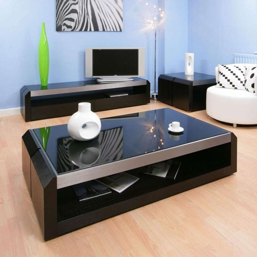 Most Recently Released Large Modern Coffee Tables Throughout Ideas About Black Glass Coffee Table On Pinterest Center Square (View 7 of 20)