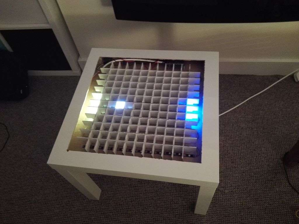 Most Recently Released Led Coffee Tables Pertaining To Bluetooth Controlled Arduino Led Coffee Table: 10 Steps (With (View 11 of 20)