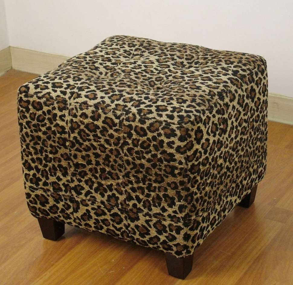 Most Recently Released Leopard Ottoman Coffee Tables Throughout Coffee Tables : Wonderful Leopard Print Ottomans Storage Animal (View 8 of 20)