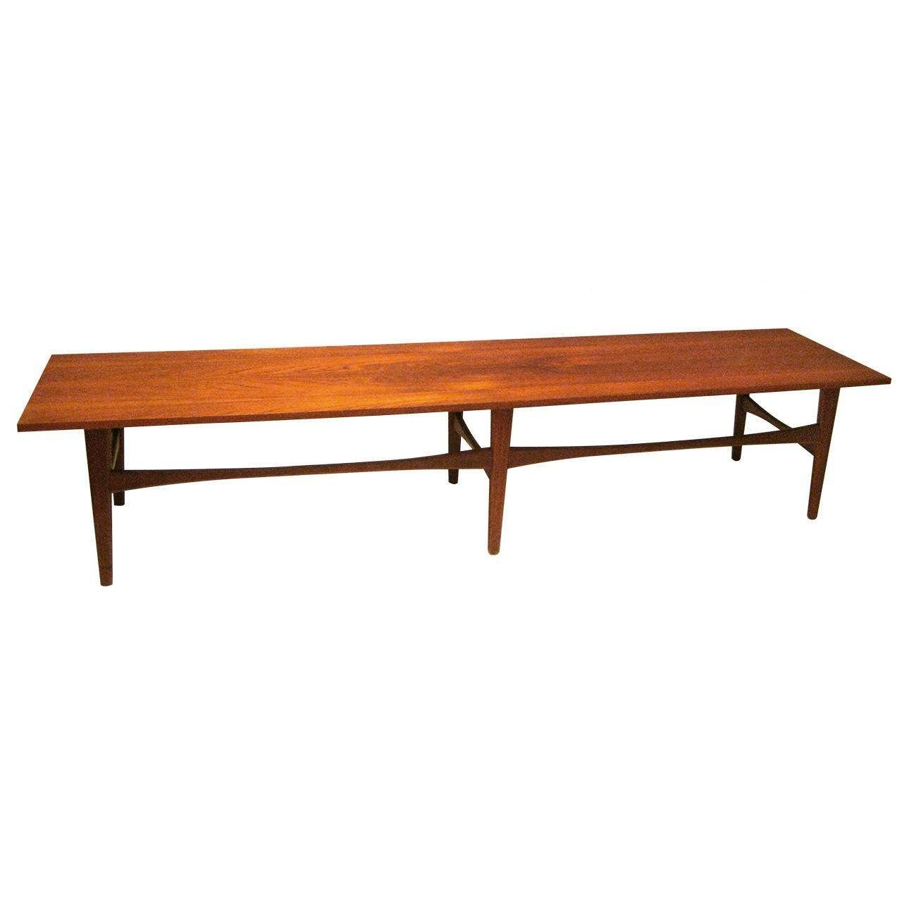 Most Recently Released Long Coffee Tables With Regard To Danish Modern Long Coffee Table Or Bench In Teak At 1Stdibs (View 15 of 20)