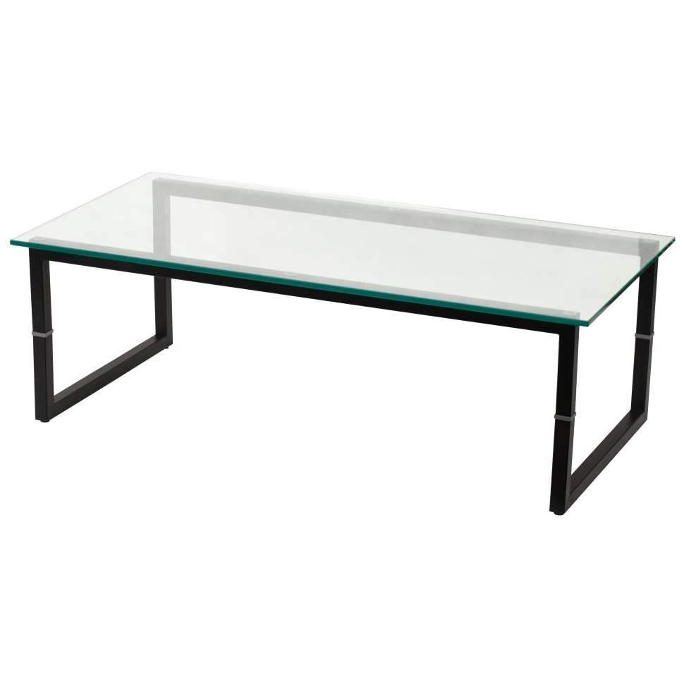 Most Recently Released Metal Glass Coffee Tables Inside Decorations : Modern Black Glass Coffee Table With Black Stainless (View 14 of 20)