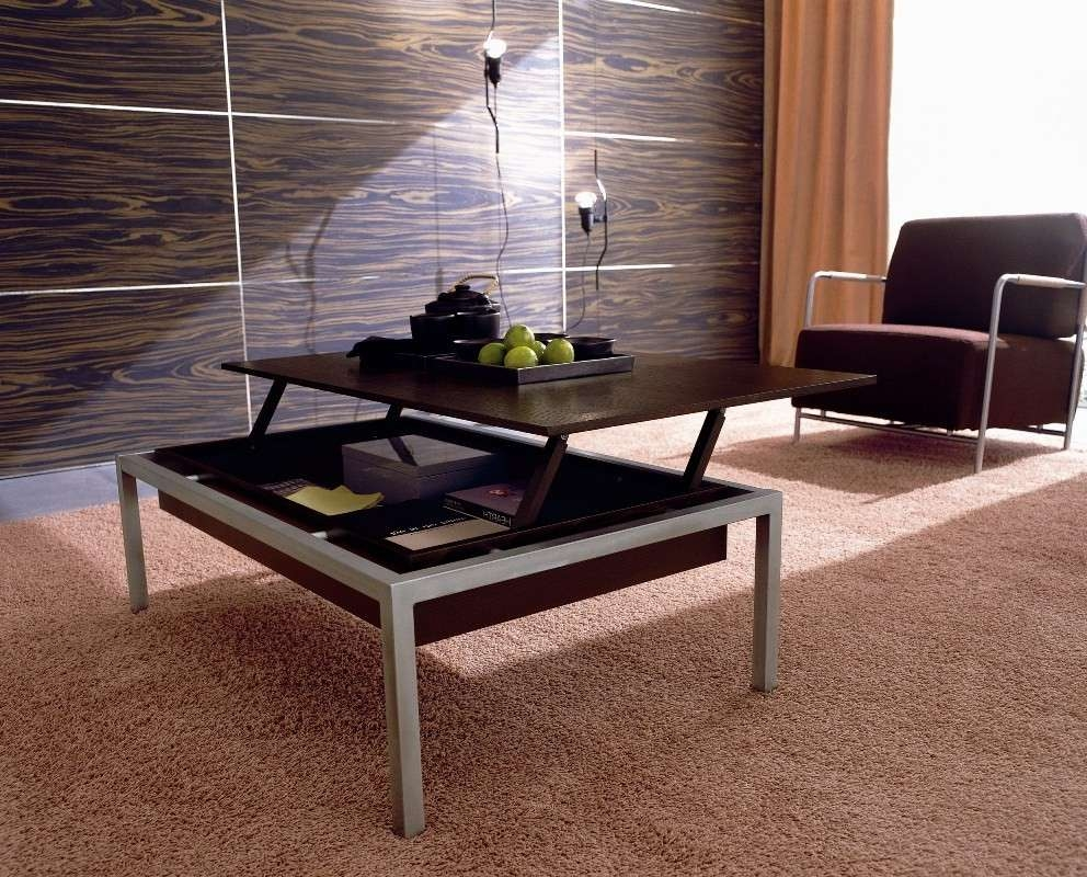 Most Recently Released Modern Coffee Tables With Storage Intended For Coffee Tables : Awesome Solid Wood Modern Coffee Table Design In (View 14 of 20)