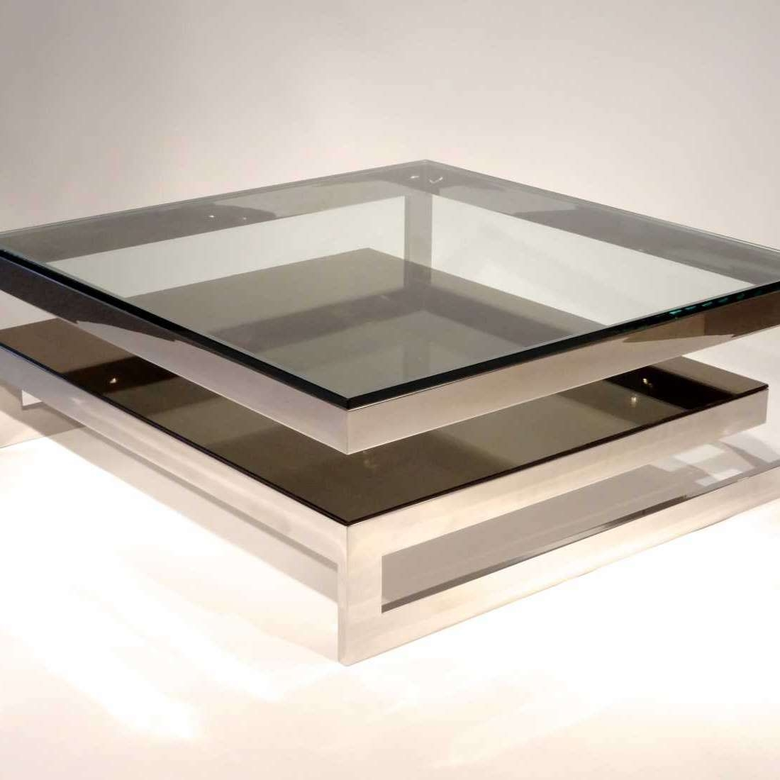 Most Recently Released Modern Glass Coffee Tables With Regard To Square Glass Coffee Table Contemporary (View 15 of 20)