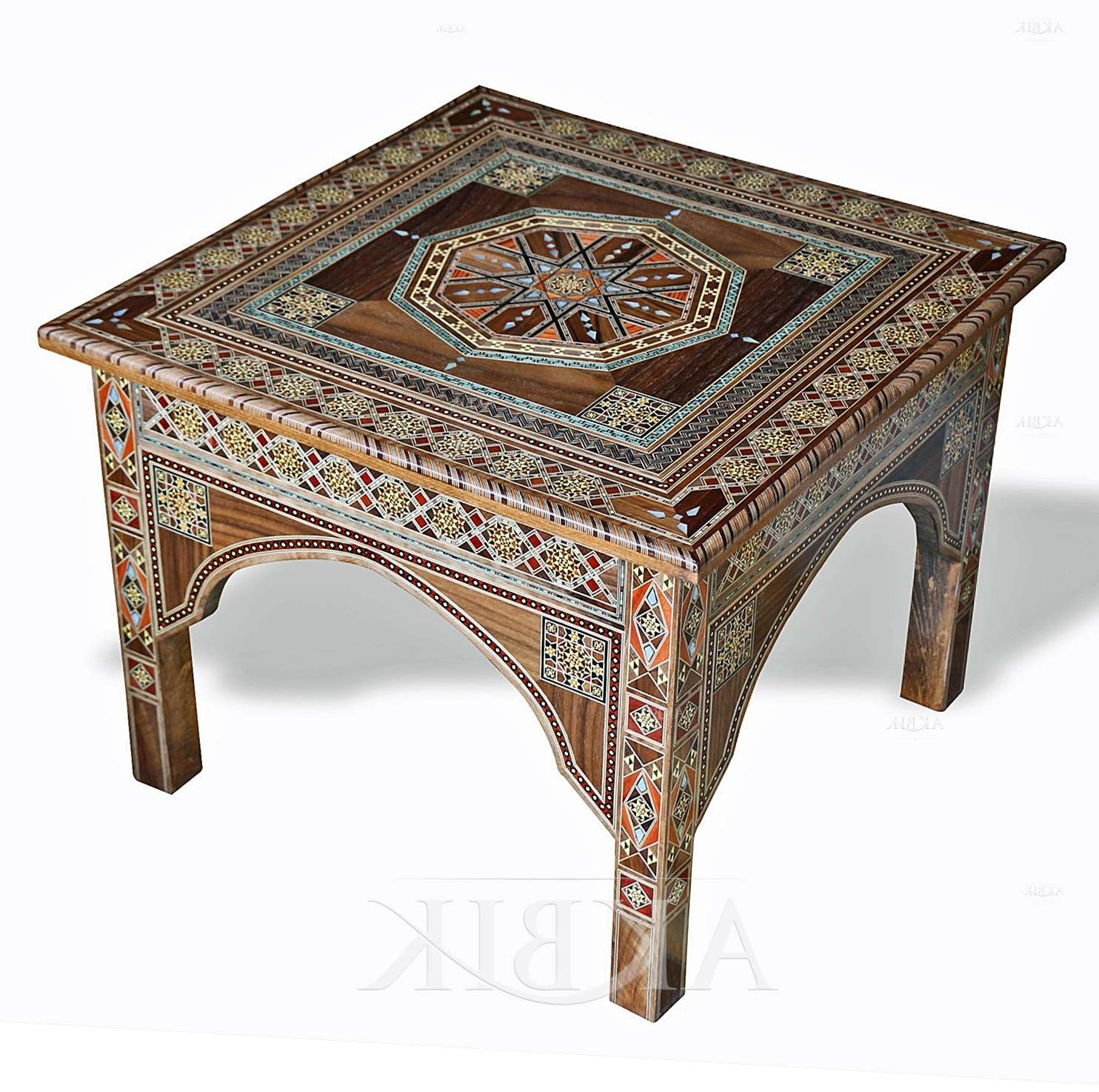Most Recently Released Mother Of Pearl Coffee Tables With Mediterranean, Levantine & Syrian Furniture Inlaid With Mother Of (View 13 of 20)