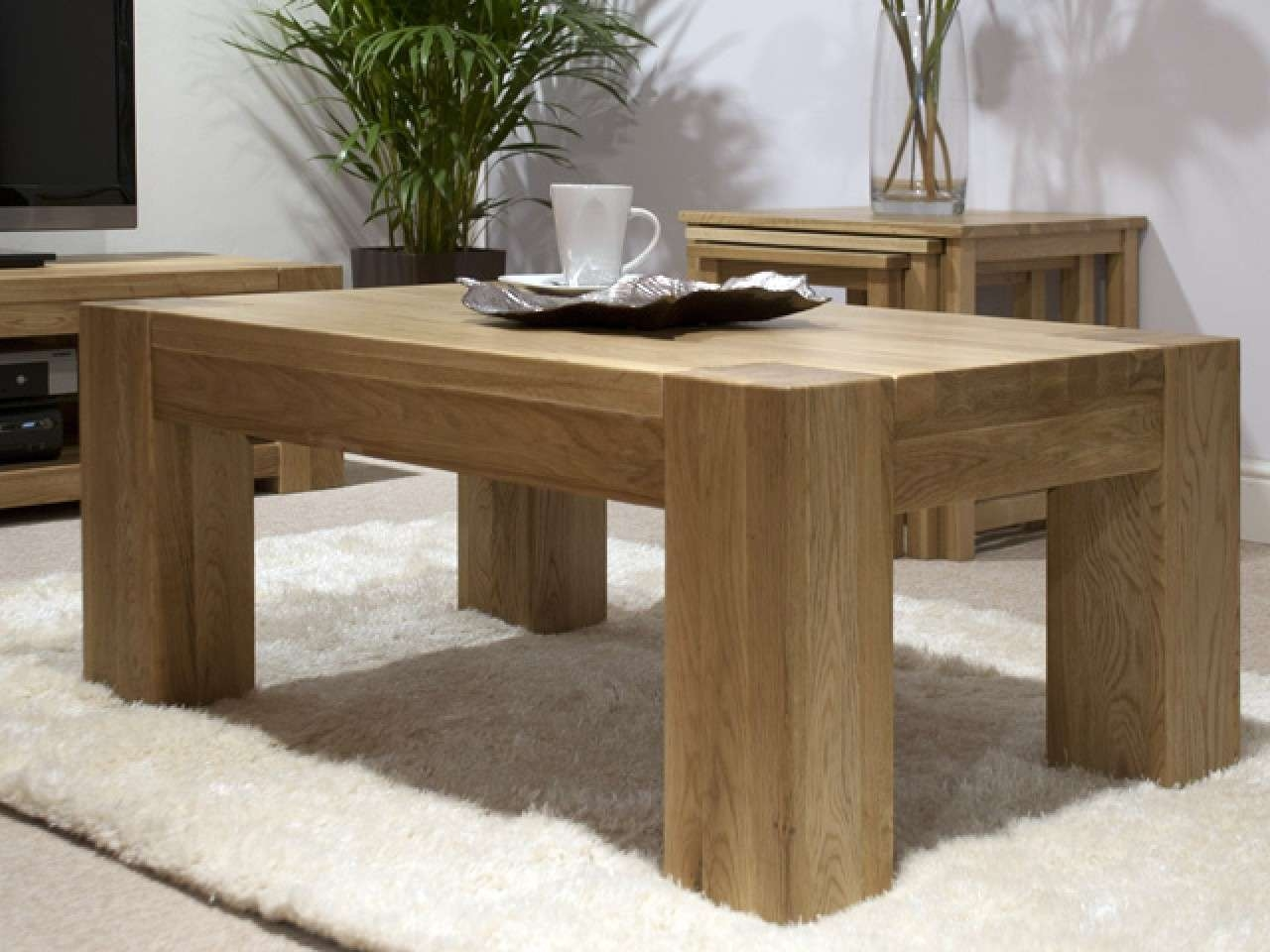 Most Recently Released Oak Coffee Table Sets Regarding Solid Oak Coffee Table – Writehookstudio (View 9 of 20)