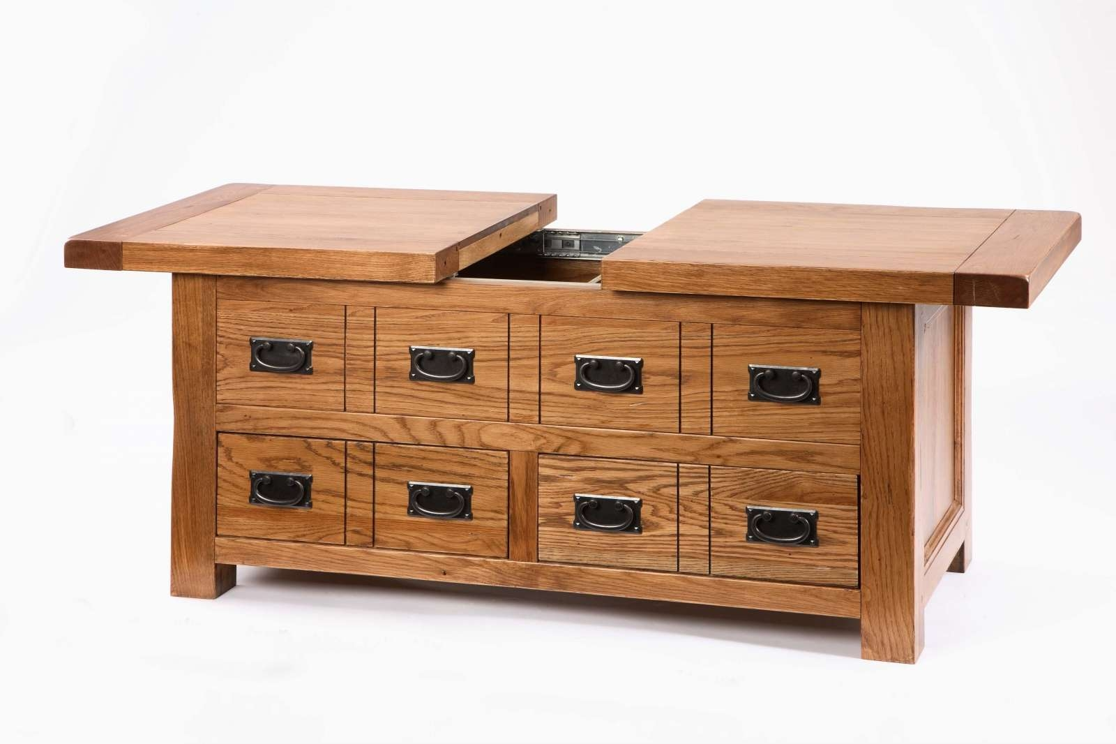Most Recently Released Oak Storage Coffee Tables With Regard To Coffee Tables : Coffee Table Storage My Blog Light Oak With Un (View 13 of 20)