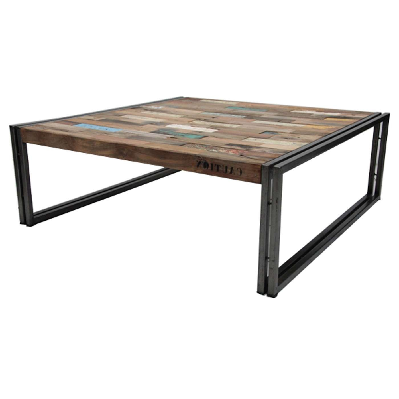 Most Recently Released Oversized Square Coffee Tables Within Coffee Table : Awesome Reclaimed Wood Bench Wooden Side Table Wood (View 14 of 20)
