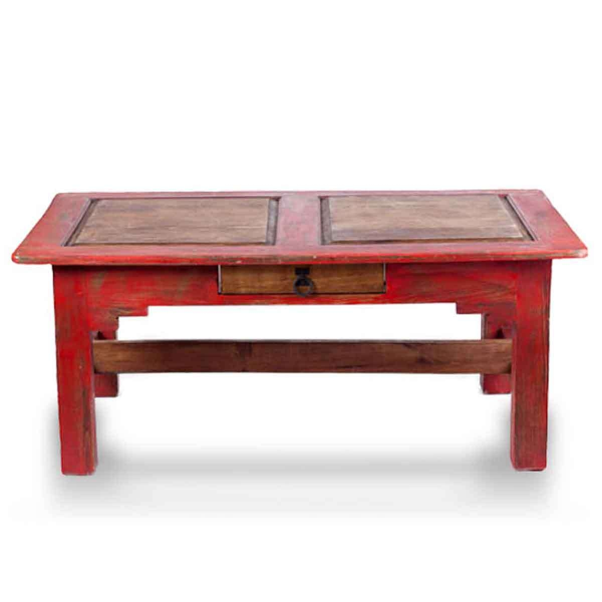 Most Recently Released Red Coffee Tables Throughout Buy Acuna Rustic Coffee Table Online (View 9 of 20)