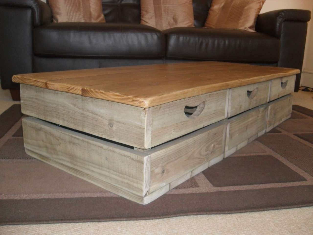Most Recently Released Rustic Square Coffee Table With Storage Throughout Rustic Coffee Table Sets – Matt And Jentry Home Design (View 12 of 20)