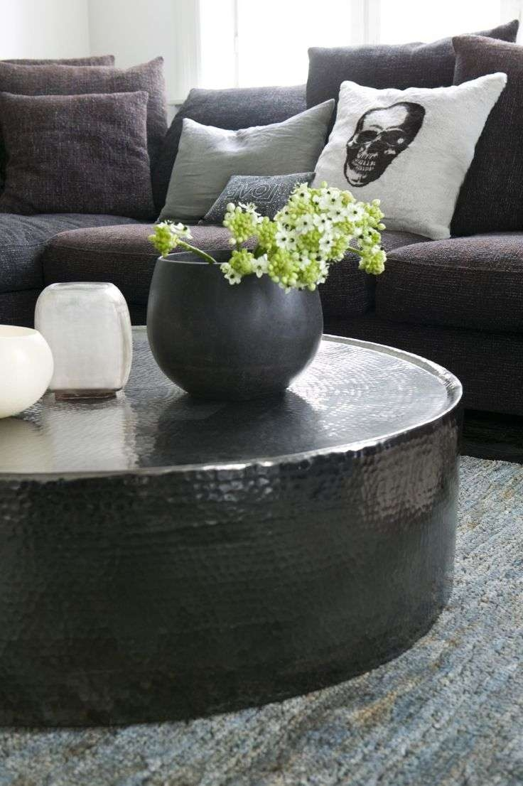 Most Recently Released Silver Drum Coffee Tables Inside Coffee Table : Silver Drum Coffee Tables Pleasing Round Silver (View 8 of 20)