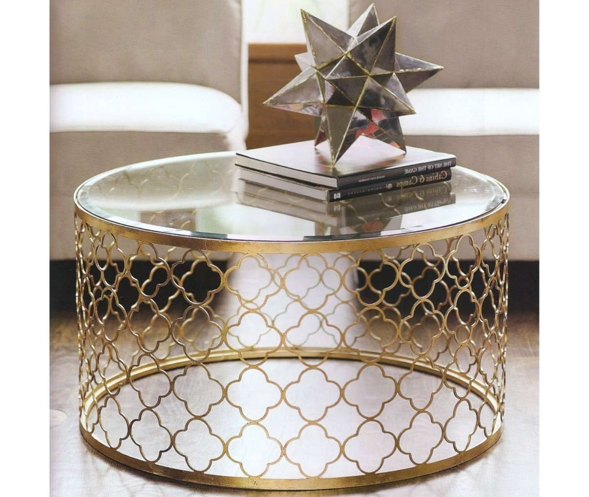Most Recently Released Silver Drum Coffee Tables Throughout Round Metal Drum Coffee Table • Coffee Table Ideas (View 5 of 20)