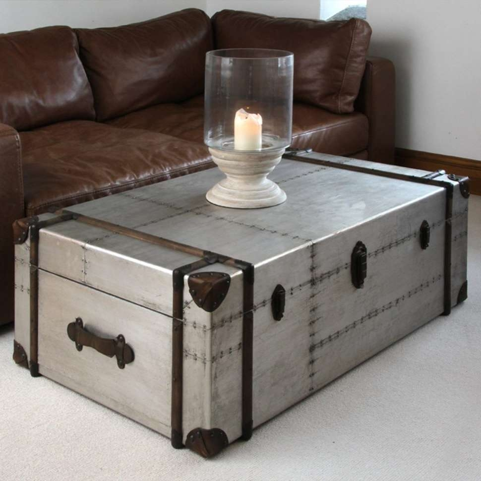Most Recently Released Silver Trunk Coffee Tables Intended For Coffee Tables : Silver Trunk Coffee Table Unique On Product (View 8 of 20)